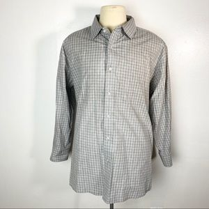 Carbon2Cobalt Button Up Plaid Shirt Long Sleeve
